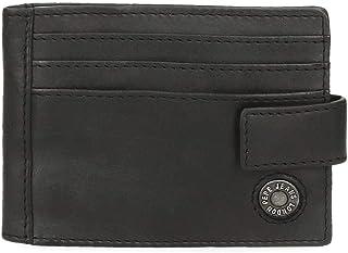 Pepe Jeans Button Tarjetero Negro 10x8 cms Piel