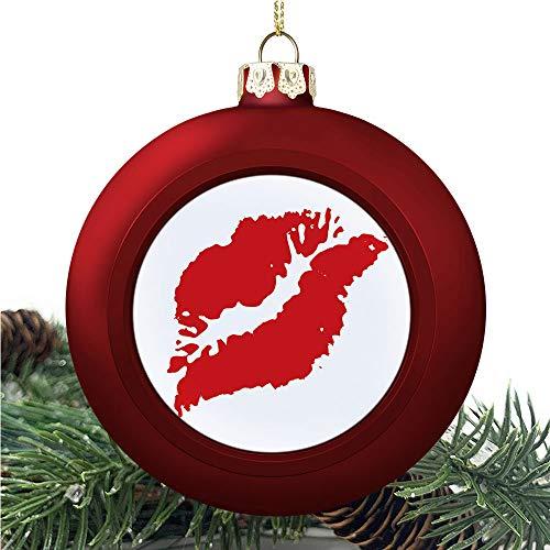 SUPNON Kissprint of Red | Christmas Ball Ornaments 2020 Christmas Pendant Personalized Creative Christmas Decorative Hanging Ornaments Christmas Tree Ornament №YF0570