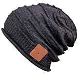 MyDeal Products Warm Bluetooth Beanie hat Cap for Winter Snowboard Black, 13 Years Old Gifts for Teenage Boys, Gift for Husband Men and Women