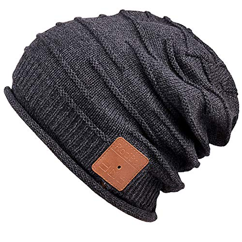 MyDeal Products Warm Bluetooth Beanie hat Cap for Winter Snowboard Black, 13 Years Old Gifts for Teenage Boys, Gift for...