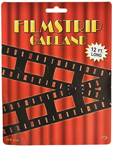 Beistle 57667 filmstrip Garland, 4-1/2 inch door 12-feet