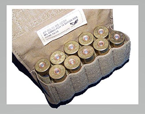12 Gage Ammo Pouch Shotgun Military USMC MOLLE FSBE Coyote w P38