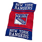 NHL New York Rangers Ultrasoft Throw with Large Logo Blanket, Royal, 54' x 84'/One Size