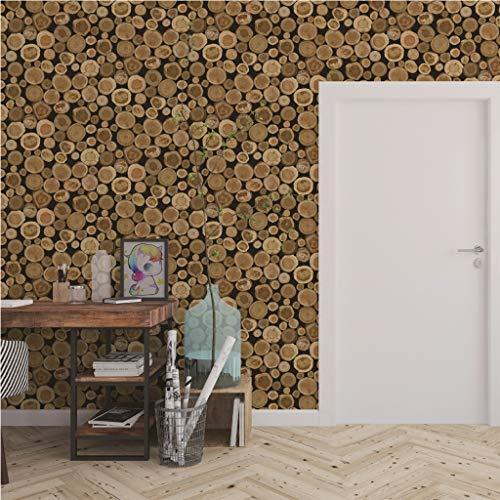 Hunpta @ Adhesivo decorativo para pared, diseño retro de estaca de árbol, impermeable, PVC, autoadhesivo, extraíble, papel de pared, decoración de pared, decoración para el hogar, dormitorio, sala de estar