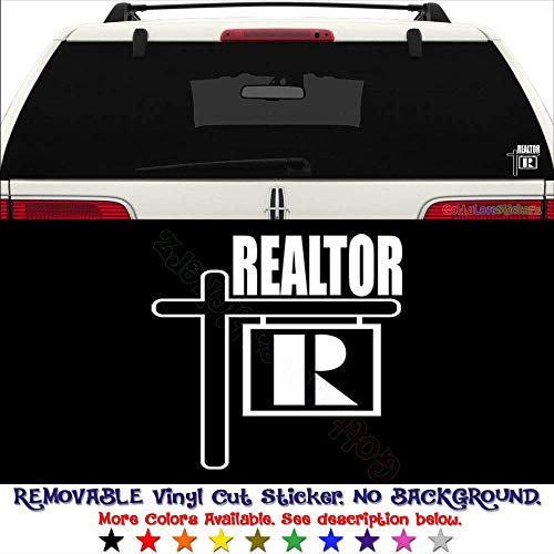 GottaLoveStickerz Realtor Real Estate Permanent Vinyl Decal Sticker for Laptop Tablet Helmet Windows Wall Decor Car Truck Motorcycle - Size (05 Inch / 13 cm Wide) - Color (Gloss Black)
