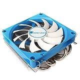 Jonsbo HP-400 90mm CPU Kühler, PC Fan für Intel und AMD, CPUs Kühlung Effiziente Prozessoren, CPU Kühler Flach, CPU Luftkühler, Hohes Kühlpotential und stylisches Design, Blau