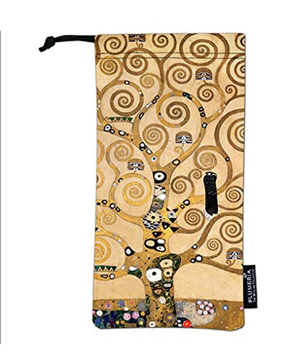 近く燃やす電卓PLUMERIA プルメリア クリムト 生命の樹 巾着袋 ポーチ袋 眼鏡ポーチ メガネポーチ 20204