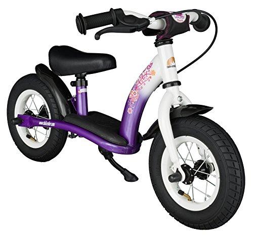 BIKESTAR Kinder Laufrad Lauflernrad Kinderrad für Mädchen ab 2 - 3 Jahre | 10 Zoll Classic Kinderlaufrad | Lila & Weiß | Risikofrei Testen