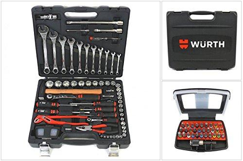 Würth universeller Werkzeug Satz / Set - 91 tlg. im robusten Kunststoffkoffer 096593120
