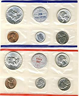 1959 P, D U.S. Mint - 10 Coin Uncirculated Set with Original Governmetn Packaging Uncirculated