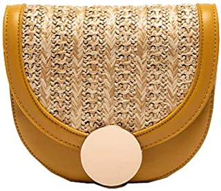 Cross Body Bag Women Leather Fashion Popular Yellow