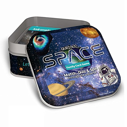 Product Image of the Qurious Space | STEM Flash Card Game | Explore, Match, Quiz & Spin Through The...