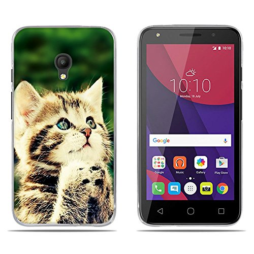 DIKAS für Alcatel One Touch Pixi 4(5.0 inch) Hülle, Transparente Silikon Weich Soft Case Crystal Clear Ultra Dünn Handyhülle Gel Flex Cover Handycover Stoßfest für Alcatel One Touch Pixi 4- Pic: 10
