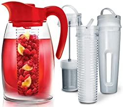 Primula PFRE-3725 Beverage System – Includes Fruit, Tea Infusion Chill Core, 2.9 quart, Red
