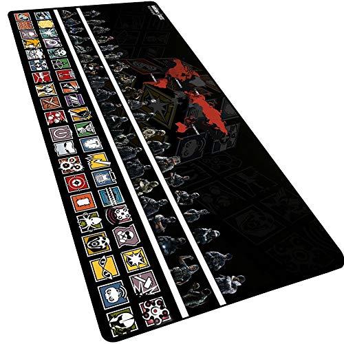 IGIRC Tapis De Souris Rainbow Six Siege 900X400Mm, Tapis De Souris Speed Gaming, Tapis De Souris Allongé Grand Format XXL avec Socle De 3Mm D'Épaisseur, pour Ordinateurs Portables, Pc