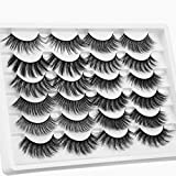 Ruairie False Eyelashes 12 Styles Natural False Lashes Pack Volume Fluffy Fake Eyelashes 3D Faux Mink Lashes