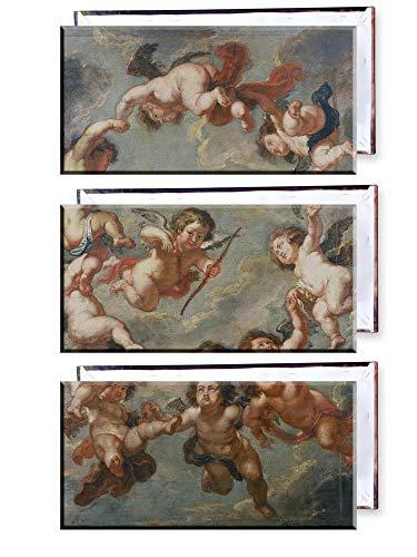 Unified Distribution Peter Paul Rubens - Putten - eine Deckenverzierung - Klassisches Gemälde - Replik auf Leinwand Dreiteiler (120x80 cm)