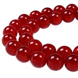 PLTbeads 4mm Red Carnelian Smooth Round Shape...