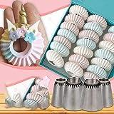 4 puntas de boquilla para hacer galletas de merengue, suministros de decoración de magdalenas de acero inoxidable, puntas para glaseado de tuberías