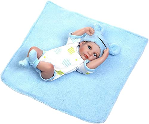 tiempo libre IIWOJ Reborn Doll Baby 10,24 Pulgadas de de de ViNiño de Silicon  lista Niño Seguro no tóxico Encantañor Niño Regaño interacción Padre-Hijo,azul  el estilo clásico