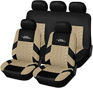 Sponsored Ad - AUTOYOUTH Car Seat Covers Universal Fit Full Set Car Seat Protectors Tire Tracks Car Seat Accessories - 9PC...