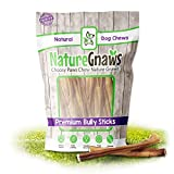 Nature Gnaws Small Bully Sticks for Dogs - Premium Natural Beef Bones - Thin Long Lasting Dog Chew Treats for Light Chewers & Puppies - Rawhide Free - 6 Inch (50 Count)