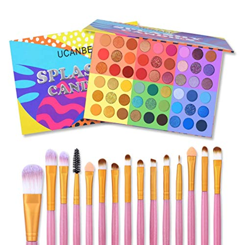 UCANBE Kit de maquillaje de sombra de ojos, 54 colores de paleta...