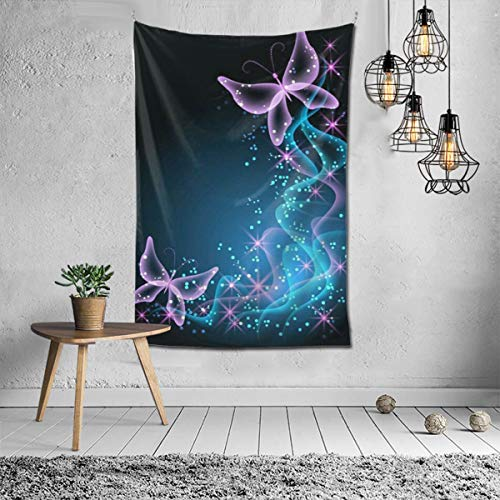 Wbydgoigo Butterfly Star Tapestry Wall Hanging (60X40inches) Wall Art Tapestry for Dorm Home Decor