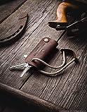 Leder Key Organizer & Halter | Wood Brown, echte Crazy Horse Leder Schlüsseletui,...