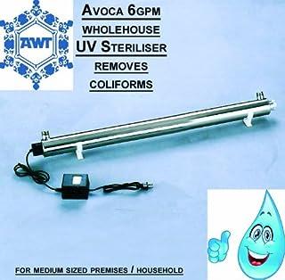 Avoca 6GPM Wholehouse Système UV Ultra violet Tue les bactéries Coliforms, Cryptosporidium et pochettes (6gpm/5personnes...