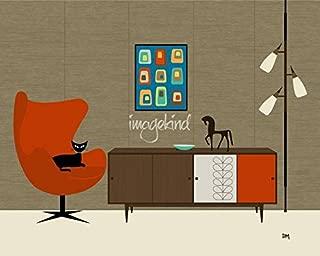 Imagekind Wall Art Print Entitled Orla Kiely Cabinet by Donna Mibus | 14 x 11