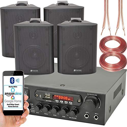 Bar Restaurant Bluetooth Wand Lautsprecher System – 110W Wireless Amp HiFi Musik