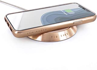 Ted Baker Luxury Wireless Charger, Connected Real Leather Wireless Charger with Fast Charge Capability USB-C Braided Cable Included (1M) - Jamilo