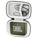 Khanka Tasche Case Schutzhülle Für JBL GO 2 GO2 kleine Musikbox portabler Bluetooth Lautsprecher. (Für JBL go 2, Grün Reißverschluss)
