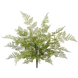 22″ Soft Plastic Leather Fern Bush Green (pack of 6)