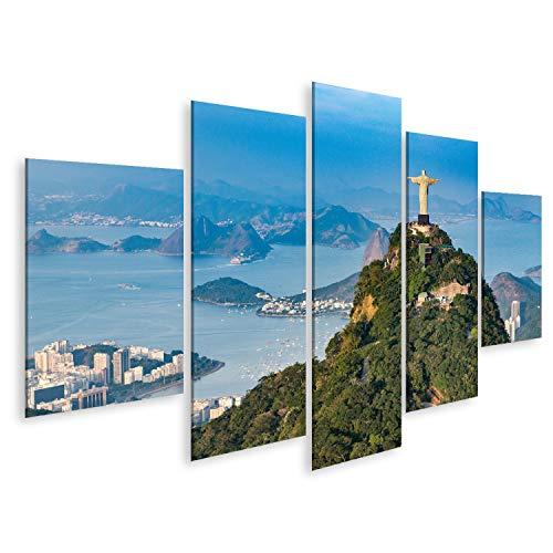 Cuadros de salon Vista aérea de Río de Janeiro. Montaña de Corcovado con la estatua del Cristo Redentor con vista al paisaje de Río de Janeiro. Fotografiado desde un helicóptero. Cuadro deco