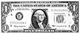 One Dollar Bill. /Npresident George Washington On The Front