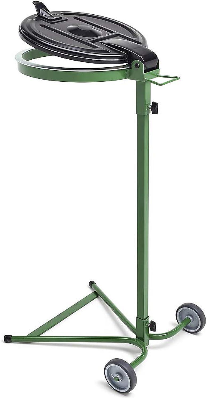Abfallsackhalter für 120-l-Sack - 2-Rad-Fahrgestell - grün, Kunststoffdeckel - B00XWL65Z8 B00XWL65Z8 B00XWL65Z8 c8e273