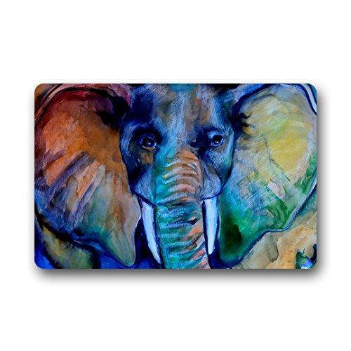 Doubee générique éléphant Elephant Paillasson Premium Tapis Anti-Poussière rectangulaire antidérapant Porte Tapis 60 cm x 40 cm, Tissu, E, 23.6\