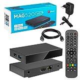 MAG 520w3 Original Infomir & HB-DIGITAL 4K IPTV Set TOP Box Multimedia Player Internet TV IP Receiver # 4K UHD 60FPS 2160p@60 FPS HDMI 2.0# HEVC H.256 Unterstützung # ARM Cortex-A53 + HDMI Kabel