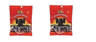Bolso de oso de caramelo con emblema dorado de la marca Licorice (paquete de 2)