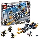 LEGO Super Heroes - Capitán América: Ataque de los Outriders, Juguete de Construcción, Moto con Lanzallamas del Primer Vengador (76123)