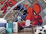 Papel pintado con foto de Spiderman Mural de pared Disney Marvel comics Decoración de pared (144 x 100 pulgadas / 366 x 254 cm) Póster gigante para niños Habitación infantil