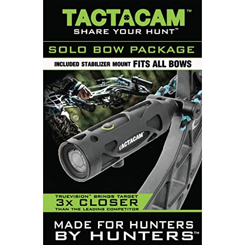 Tactacam SOLO Ultra HD Shock Resistant Video Action Camera with 3X Zoom Bow Package
