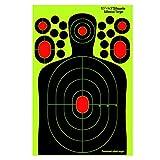 fritz-cell 25 dianas autoadhesivas para armas, pistolas, armas de aire, airsoft, BB, diábolo, compatible con objetivos Splatterburst