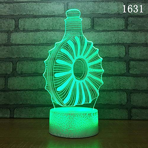 Love Wedding Diamond Ring Watch Headset 3D Night Light Led Table Lamp Creative Decoration Festival Gift 3D Novelty Unique Toys