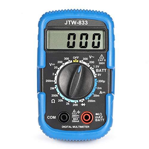 Tellaboull JTW-833 Handheld Mini-Digital-Multimeter 1999 Zählt AC/DC Volt Amp Ohm Diode Batterie Tester Amperemeter Voltmeter