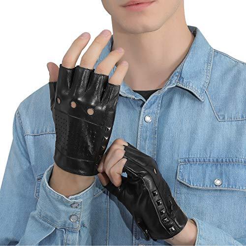 【GSG】指ぬきグローブ メンズ ドライビンググローブ 革 レザー 半指 指なし ドライブ ドライバー 運転 バイク 車用 男性 紳士 プレゼント ギフトにもお勧め 200634