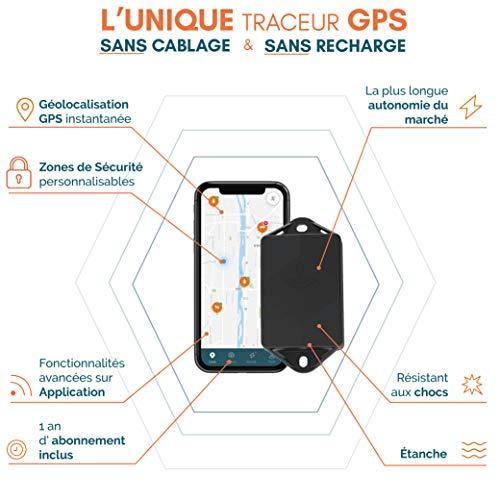 TRAKmy Traceur GPS Compact - sans Carte SIM - Scooter Moto Hors Bord - Autonomie 3 Ans - Aucun...