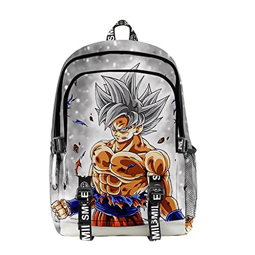 Dragon Ball 3D Manga Sac a Dos, Super Saiyan Son Goku Imprimé Cartables Dragon Ball Z Durable Tissu Oxford Sacs a Dos pour Enfant Garçons Filles (31,28 * 45.5 * 18cm)
